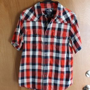 North Face Plaid Shirt EUC